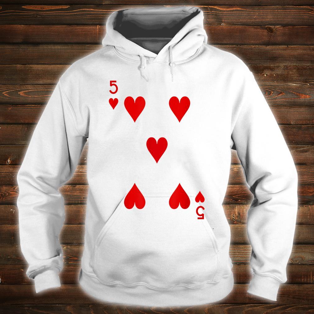 5 Hearts Playing Card Poker Costume Shirt hoodie