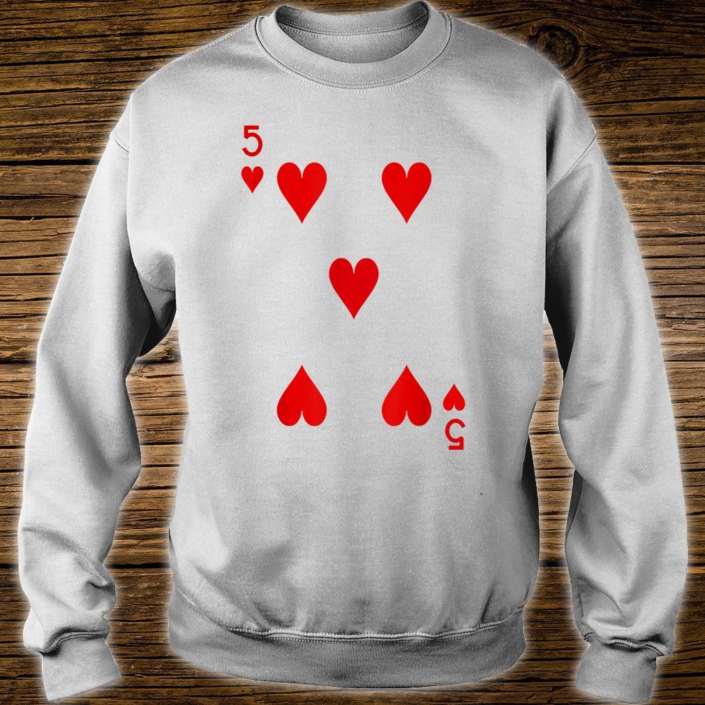 5 Hearts Playing Card Poker Costume Shirt sweater