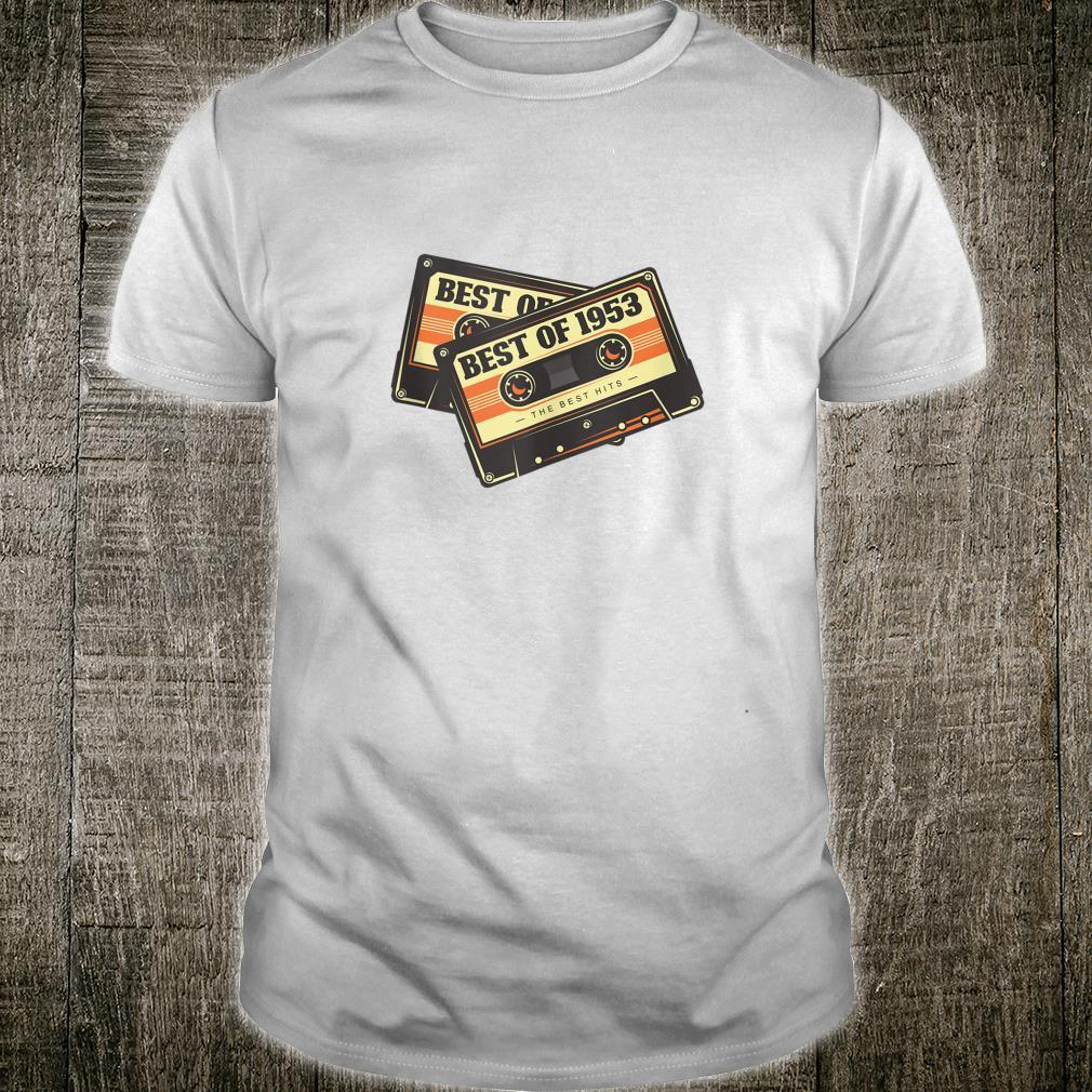 68th Birthday Retro Vintage Design 68 Year Old Best Of 1953 Shirt
