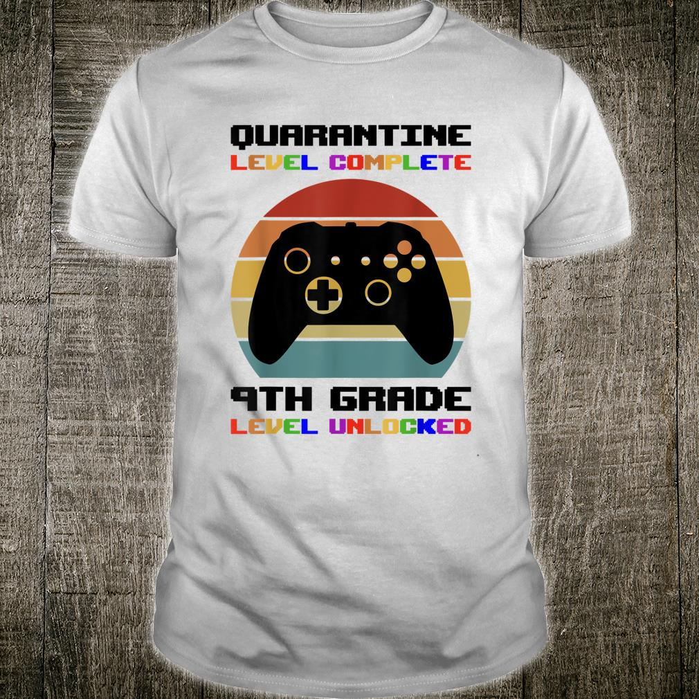 9th Grade First Day of School 2020 Quarantine Unlocked Gamer Shirt