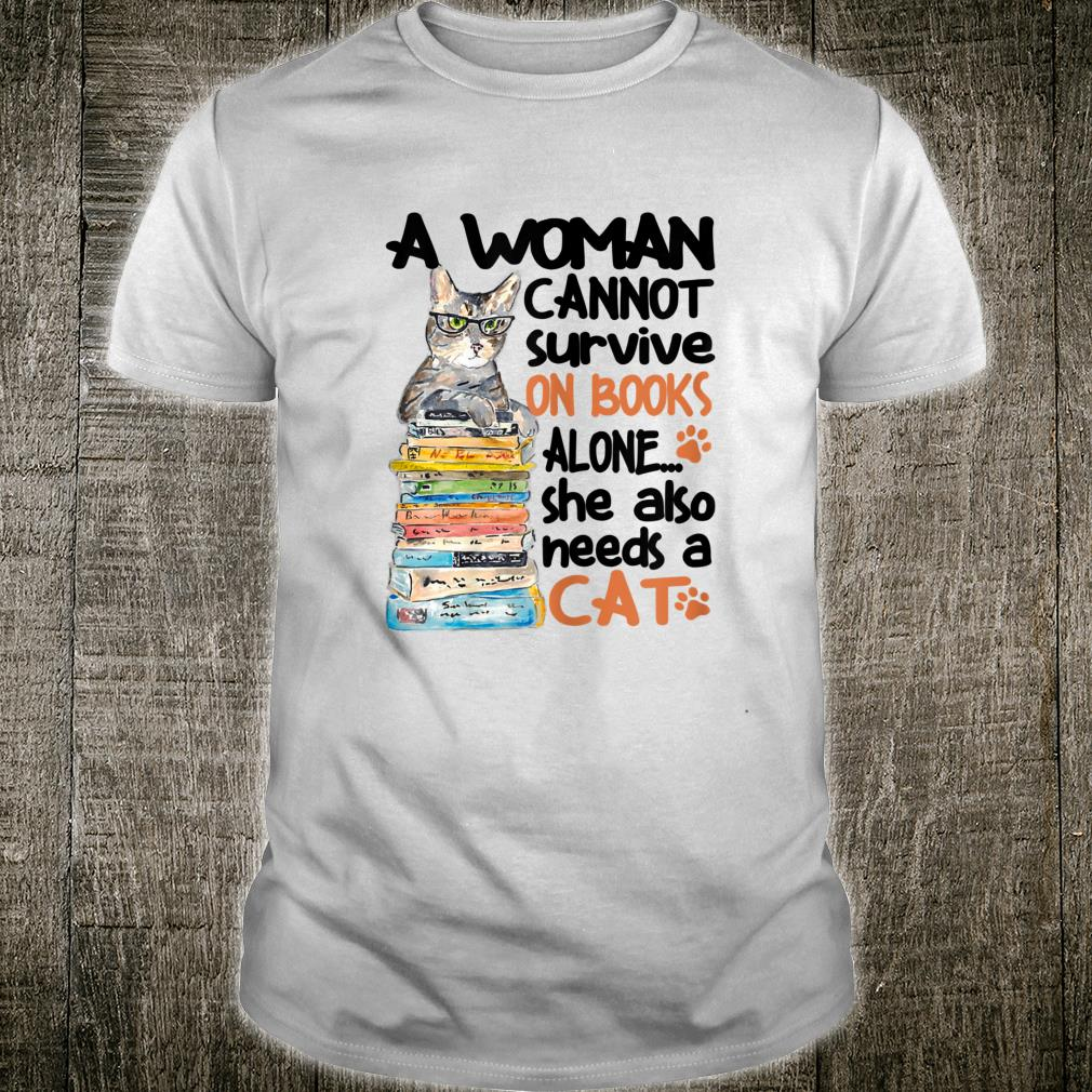A Cannot Survive On Books Best Cat Shirt