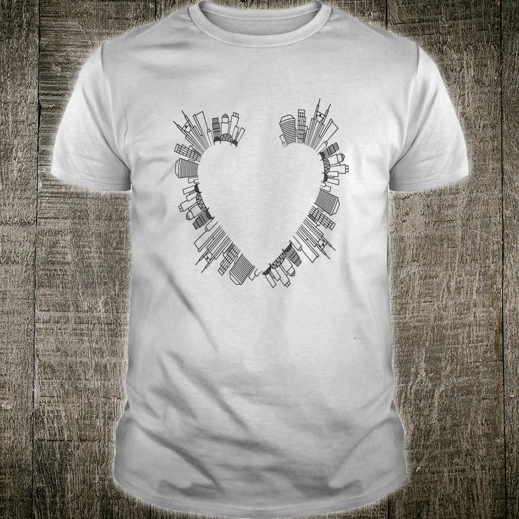 A Heart Made Of The City. Big Love to Town. Townsperson Shirt