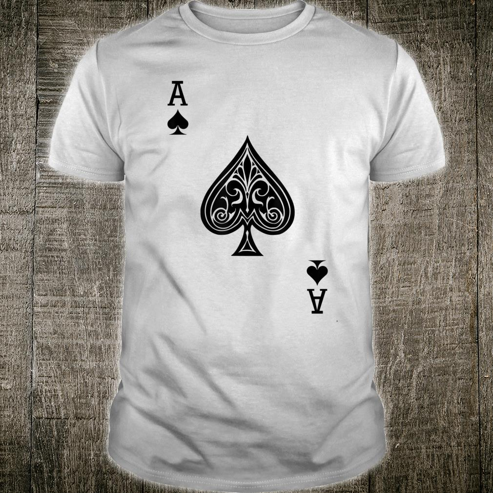 Ace of Spades Card Poker Playing Costume Shirt