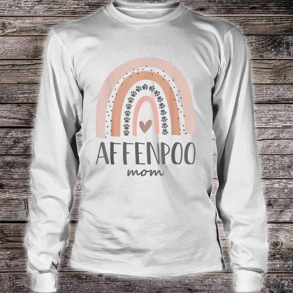 Affenpoo Mom Shirt Paw Rainbow Shirt long sleeved