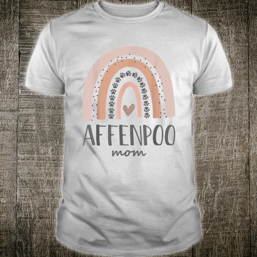 Affenpoo Mom Shirt Paw Rainbow Shirt