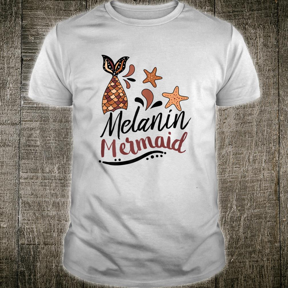 African American Melanin Mermaid Cute Pun Design Shirt