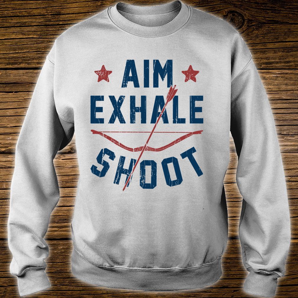 Aim Exhale Shoot Archery Bow Arrow Archer Bowhunting Shirt sweater