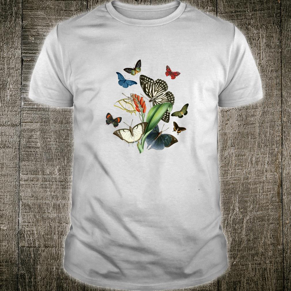 Alte botanische Schmetterlingsarten Shirt