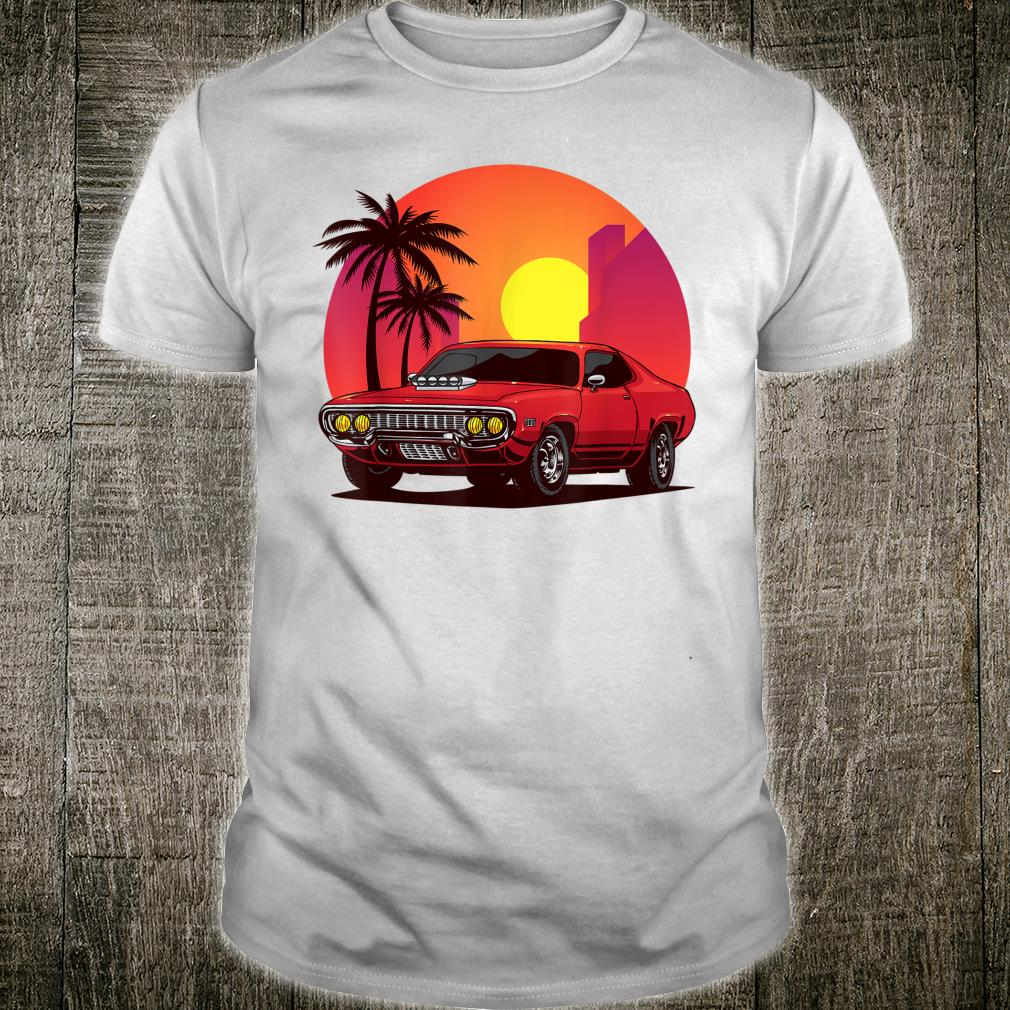American Muscle Car With Sun and Palm Trees for Cars Shirt