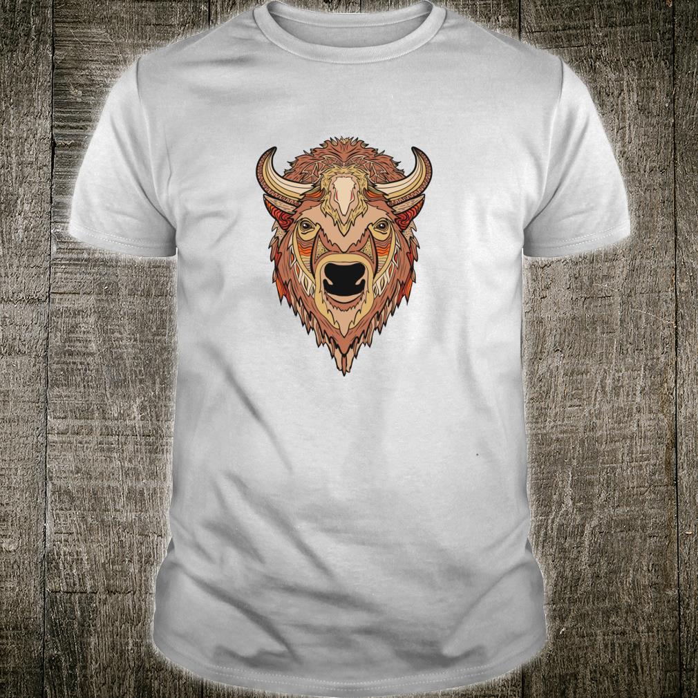 Artistic Bison Buffalo Head Shirt