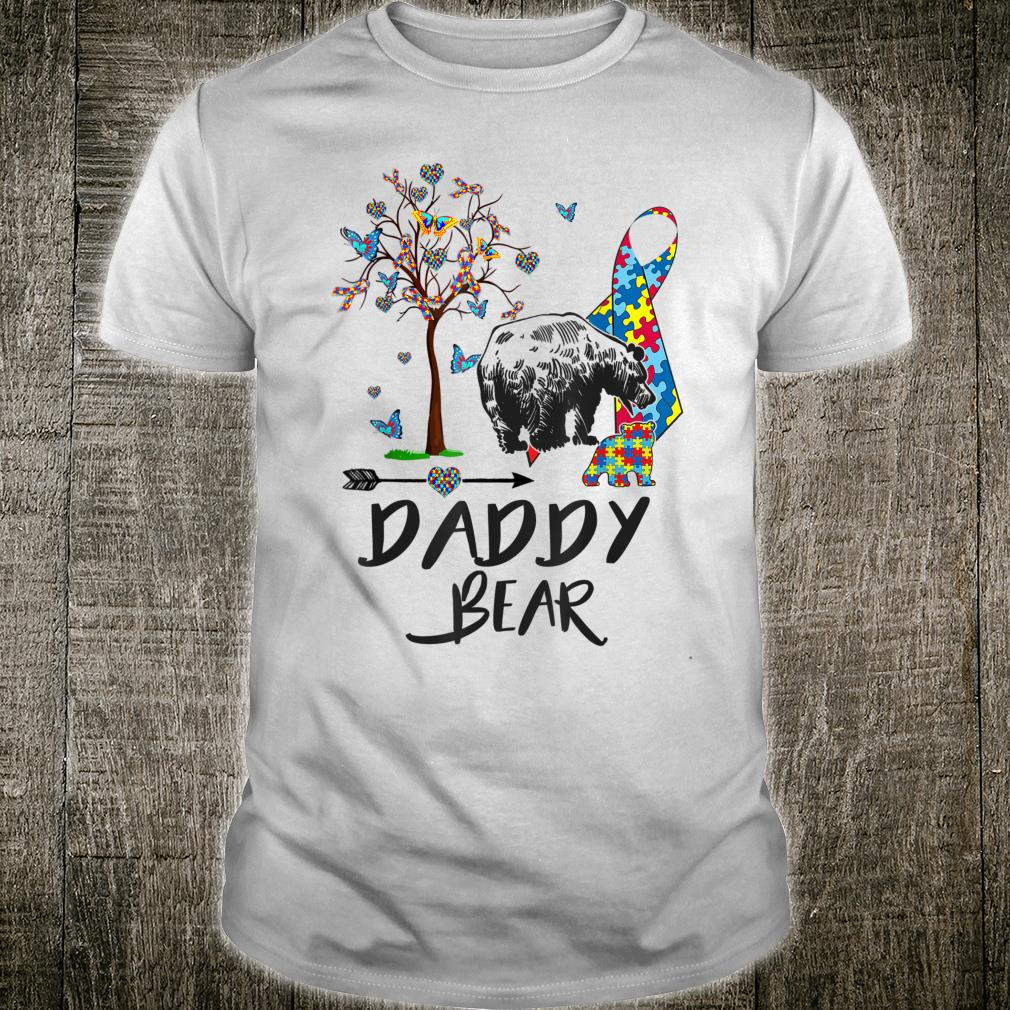 Autism Awareness Daddy Bear Support Autistic Adults Shirt