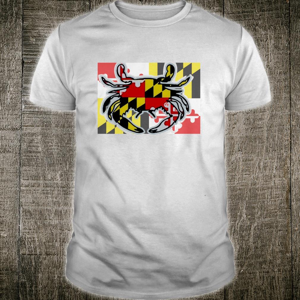 Awesome Maryland State Crab Flag Shirt