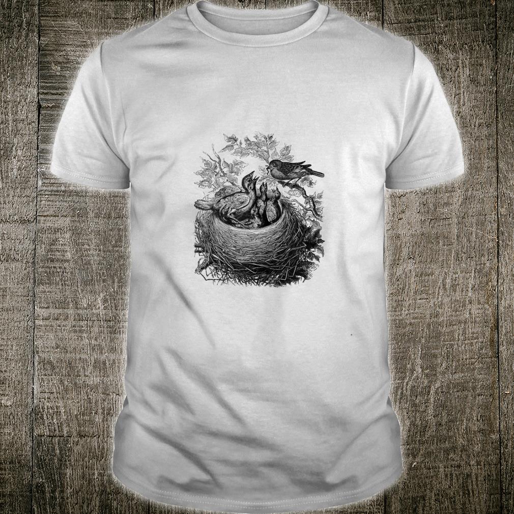 Baby Bird's Nest Print Shirt
