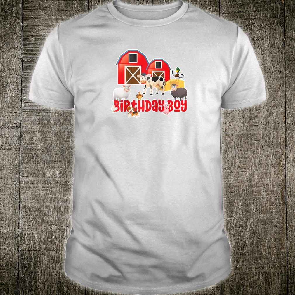 Barnyard Farm Animals Birthday Boy Party Fun Bday Shirt