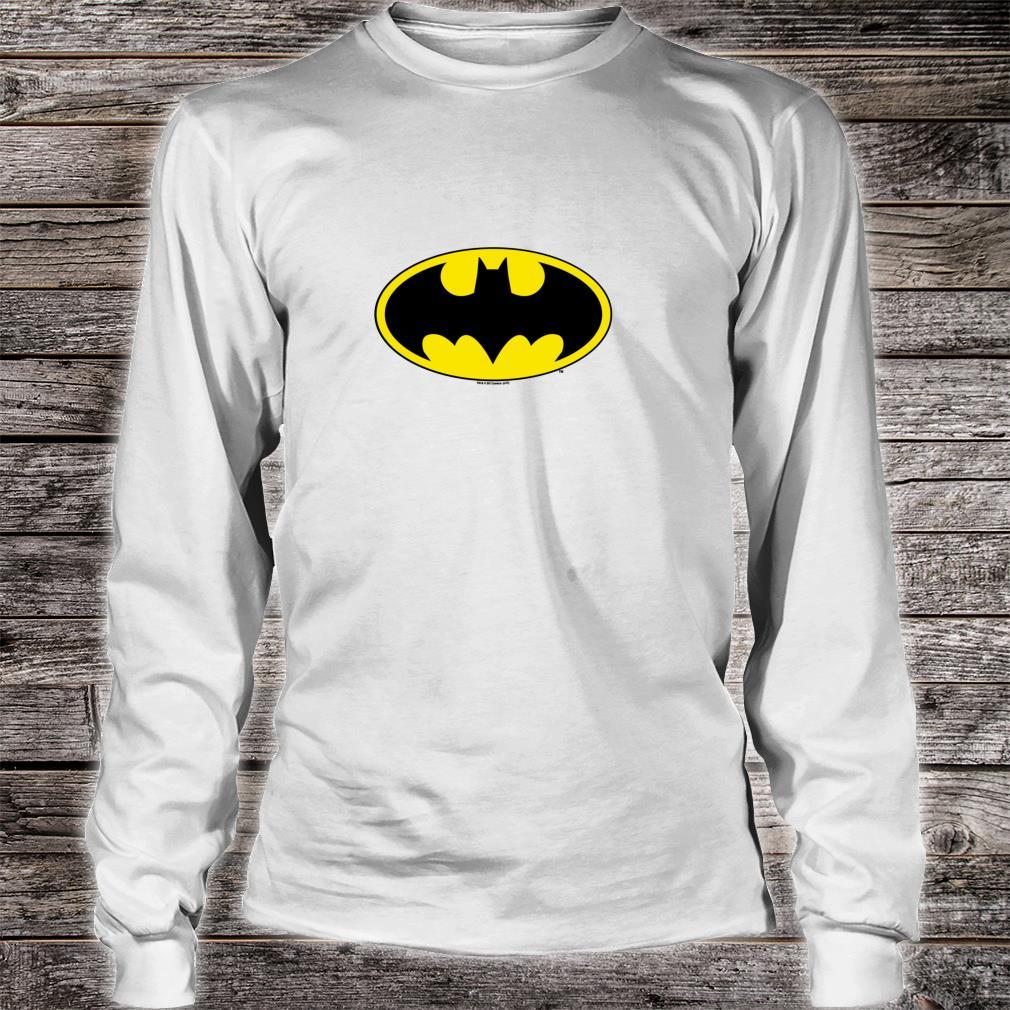 Batman Classic Bat Logo Shirt long sleeved