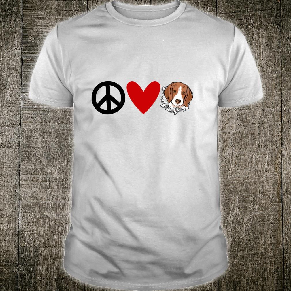 Beagles Peace Love Beagle Shirt