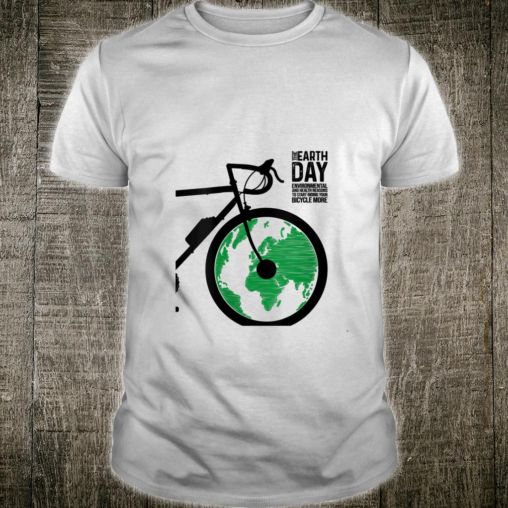 Bicycle and Earth Love Biking with green Earth Shirt