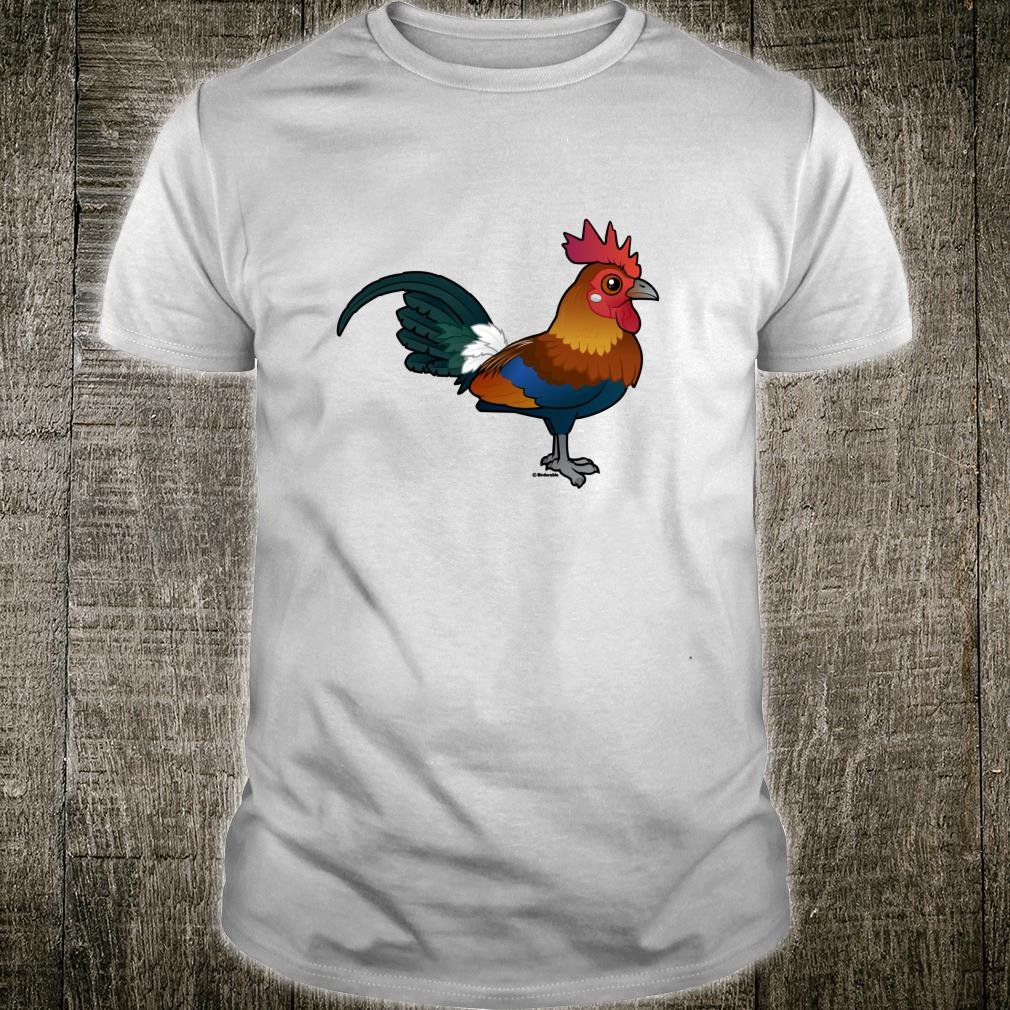 Birdorable Red Junglefowl Cute Cartoon Exotic Chicken Bird Shirt