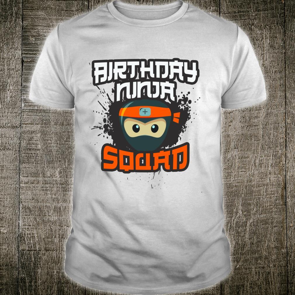 Birthday Ninja Squad Mom Dad Team Siblings Crew Matching Shirt