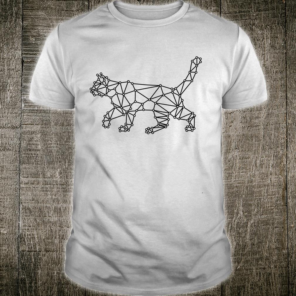 Black Cat Minimalist geometric design Shirt