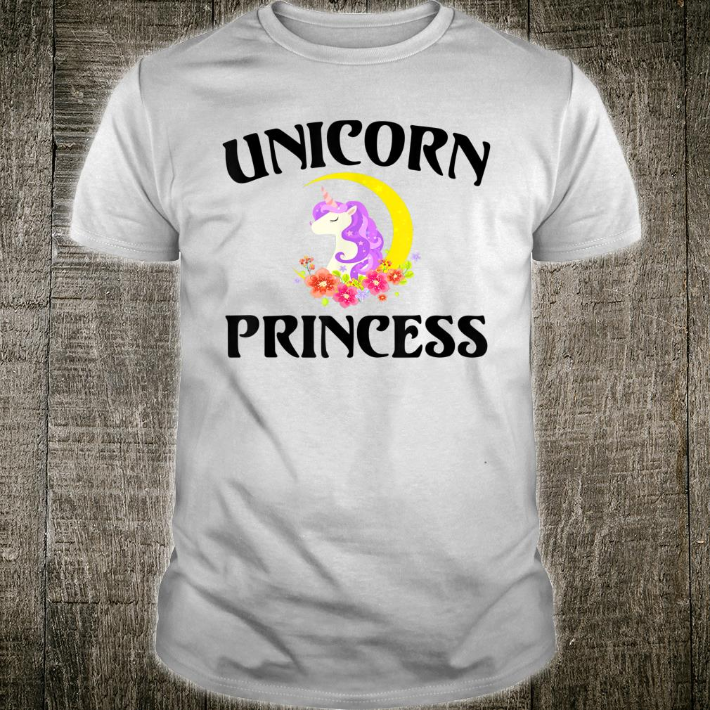 Black Letters Unicorn Princess Cartoon Mythical Creature Shirt