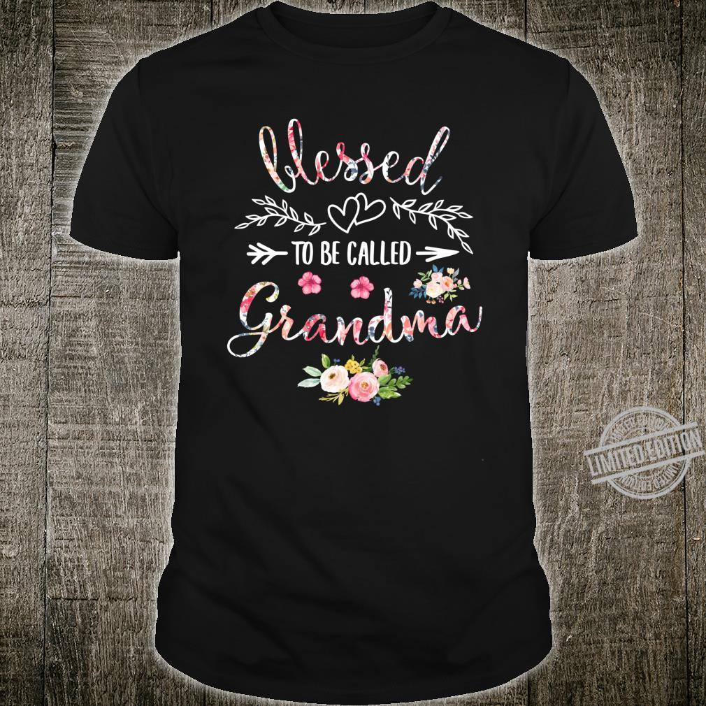Blessed Grandma Floral Grandma Mother's Day Shirt