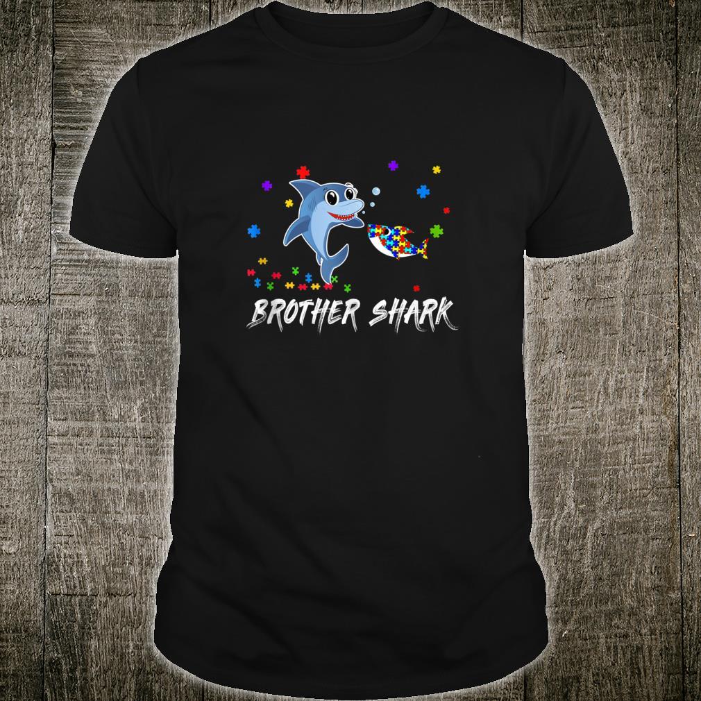 Brother Shark Autism Awareness For Brother Shirt