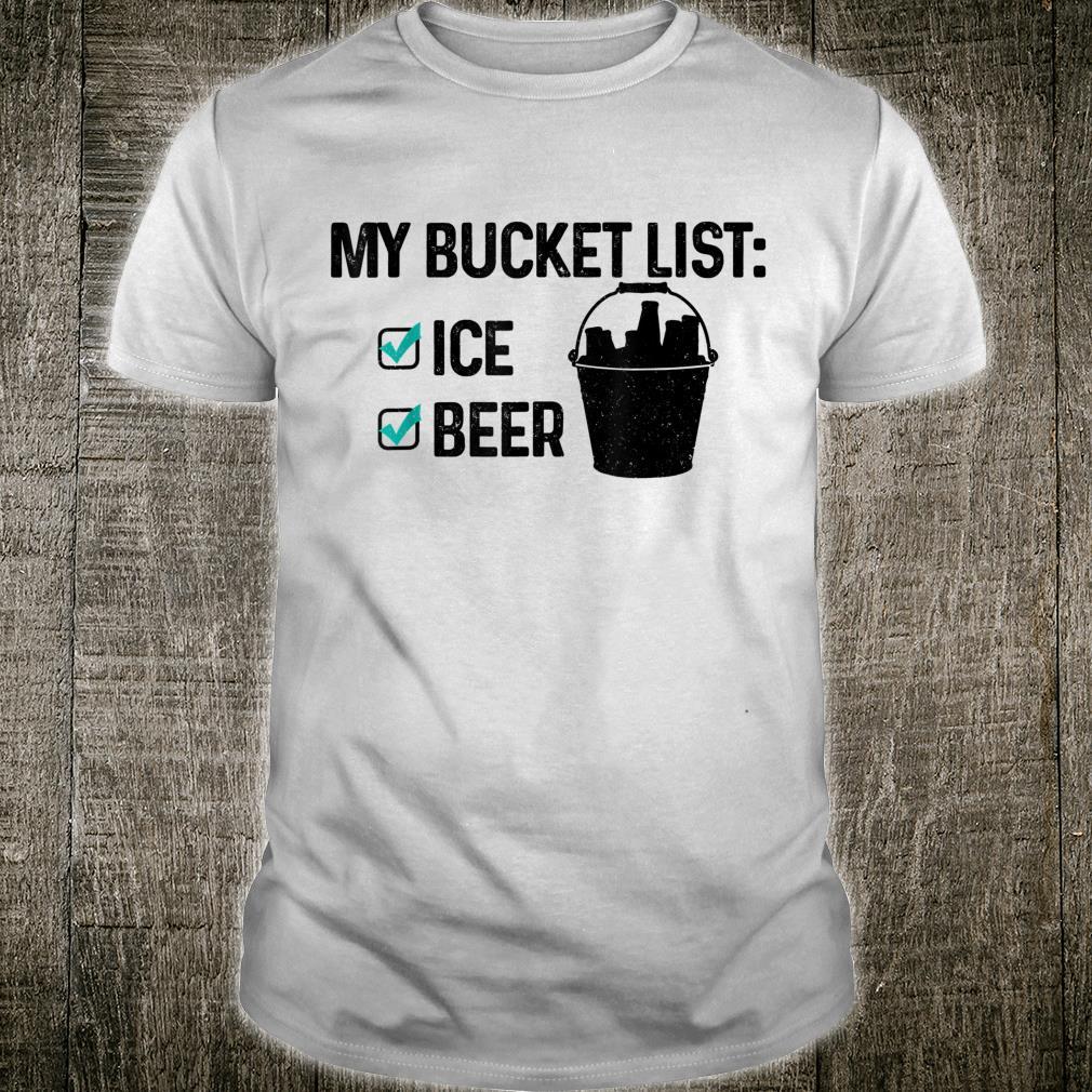 Bucket List Beer Ice Party Beach Summer Drinking Shirt
