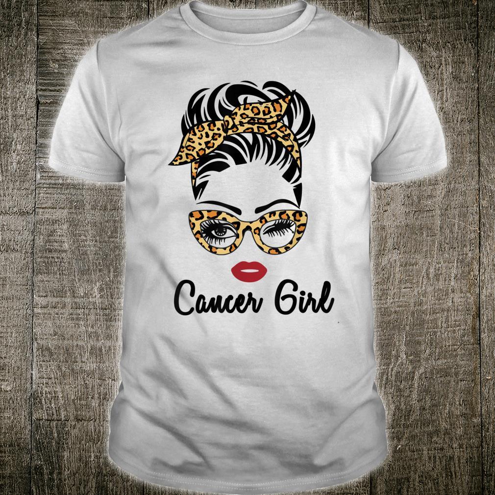 Cancer Girl Face Leopard Bandana Wink Eye Shirt