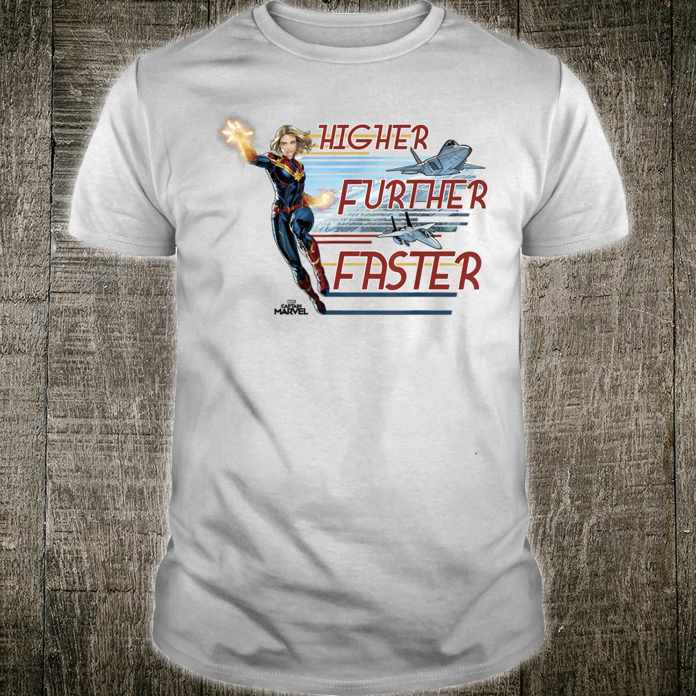 Captain Marvel Higher Further Faster Jet Stream Shirt