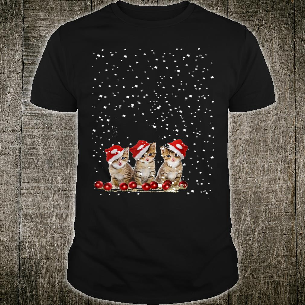 Christmas Cat With Snow Cat Shirt