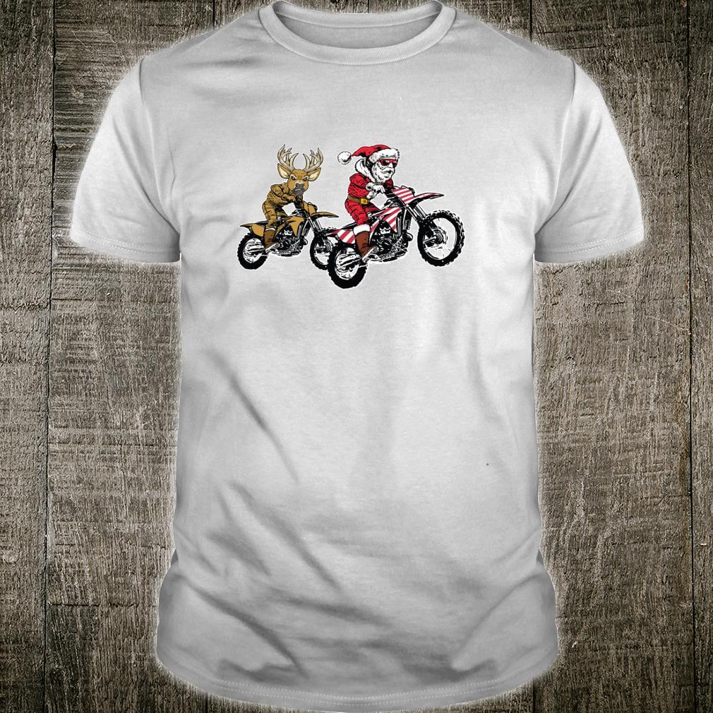 Christmas Motocross Santa Claus MX Dirt Bike Shirt