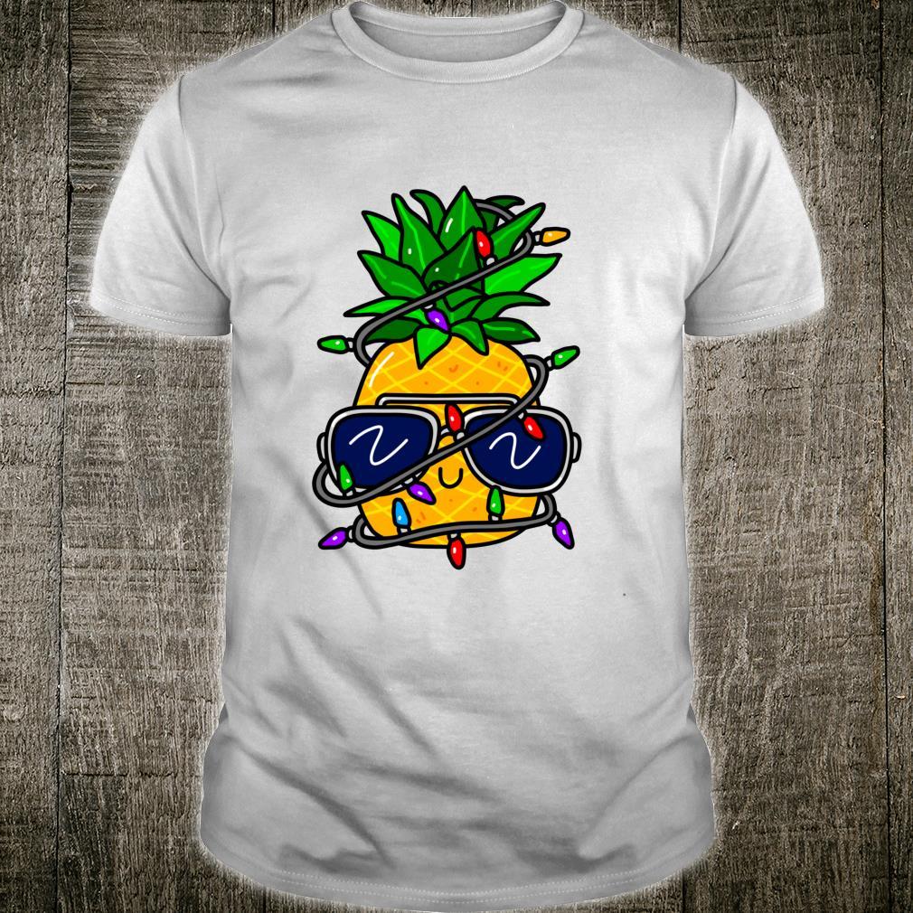 Christmas Pineapple Hawaiian Xmas Boys Girls Shirt