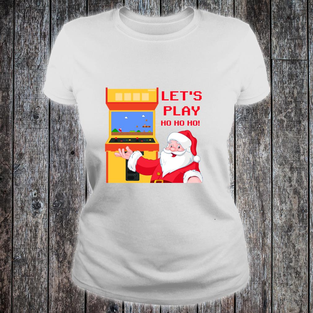 Christmas Santa Claus Gaming Shirt ladies tee