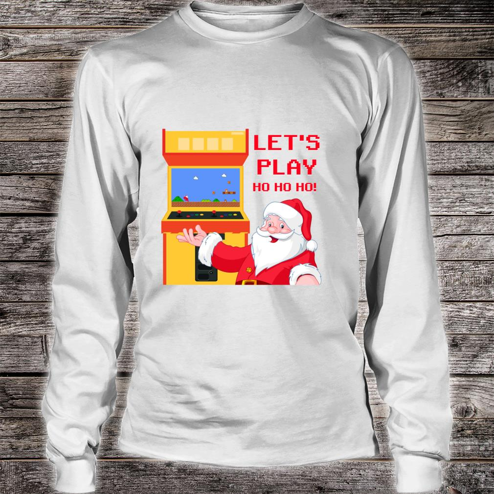 Christmas Santa Claus Gaming Shirt long sleeved