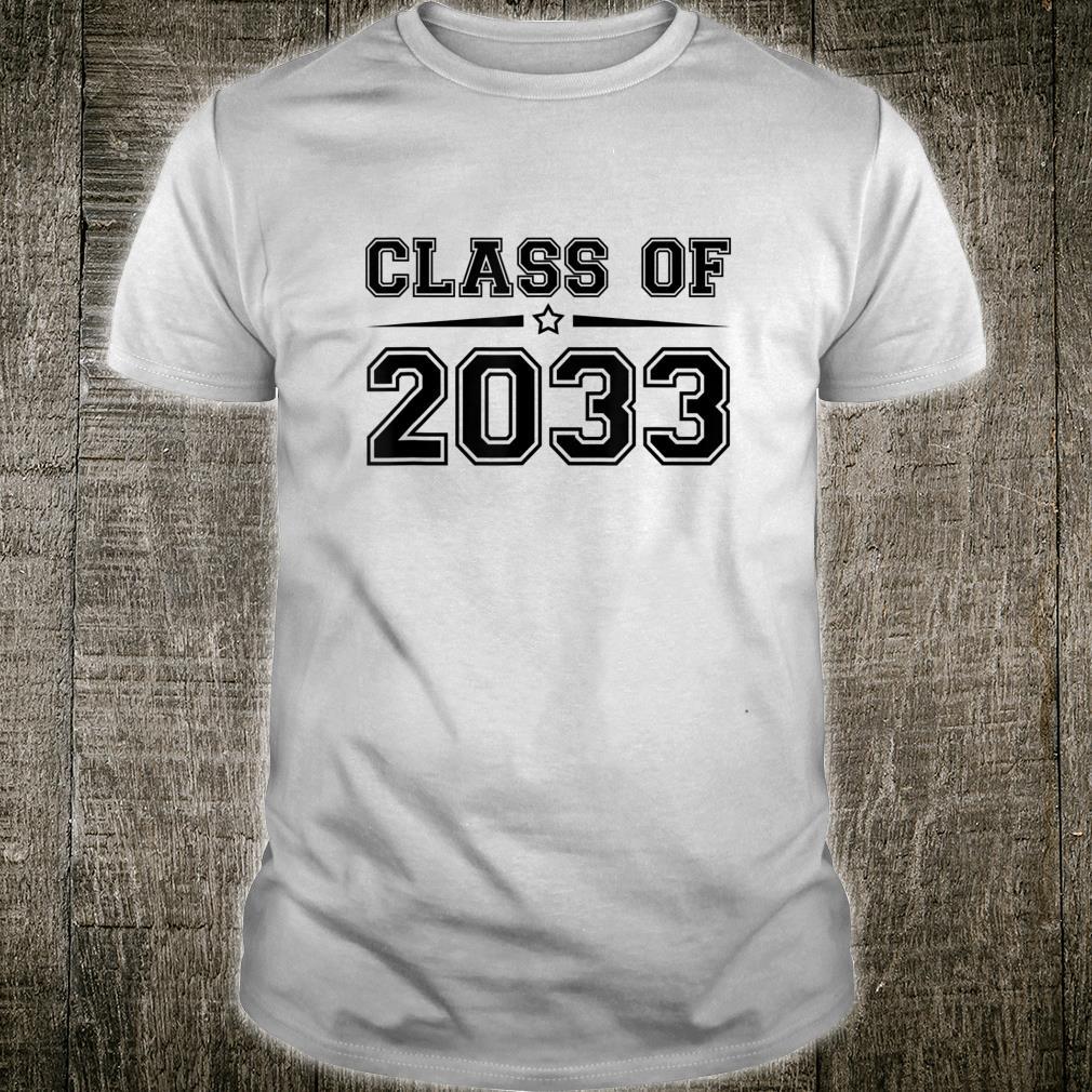 Class of 2033 Future Kindergarten Graduate Shirt