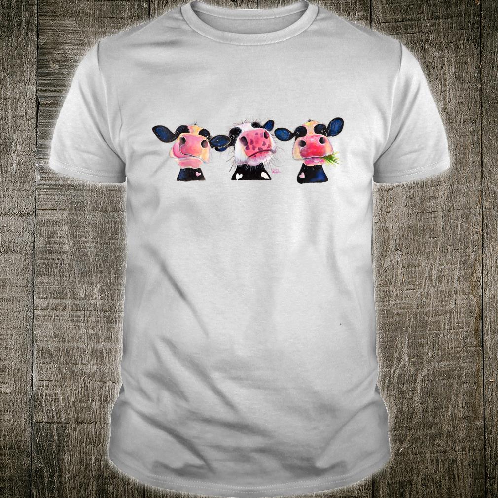 CoW PRiNT ANiMaL PRiNT ' THe NoSeY CoWS ' Shirt