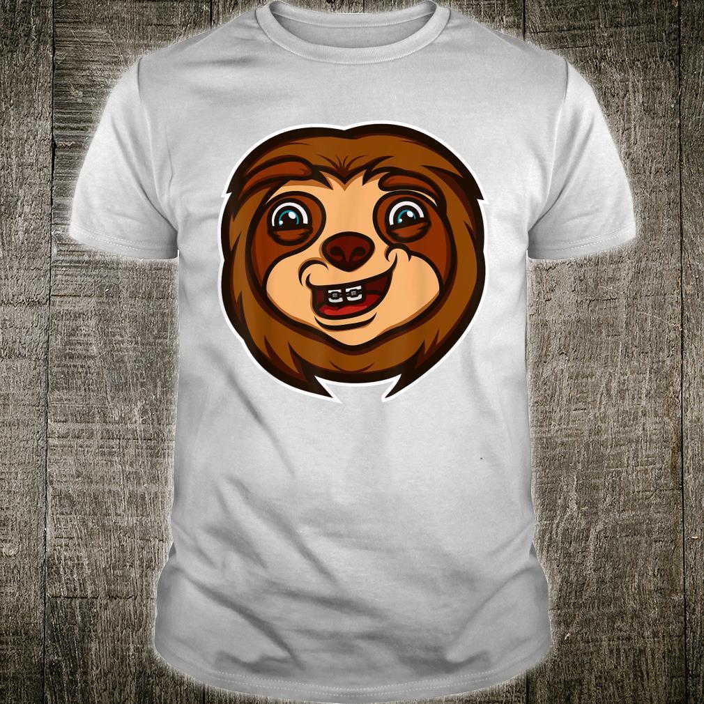 Cool Sloth With Dental Braces Animalth Smile Shirt