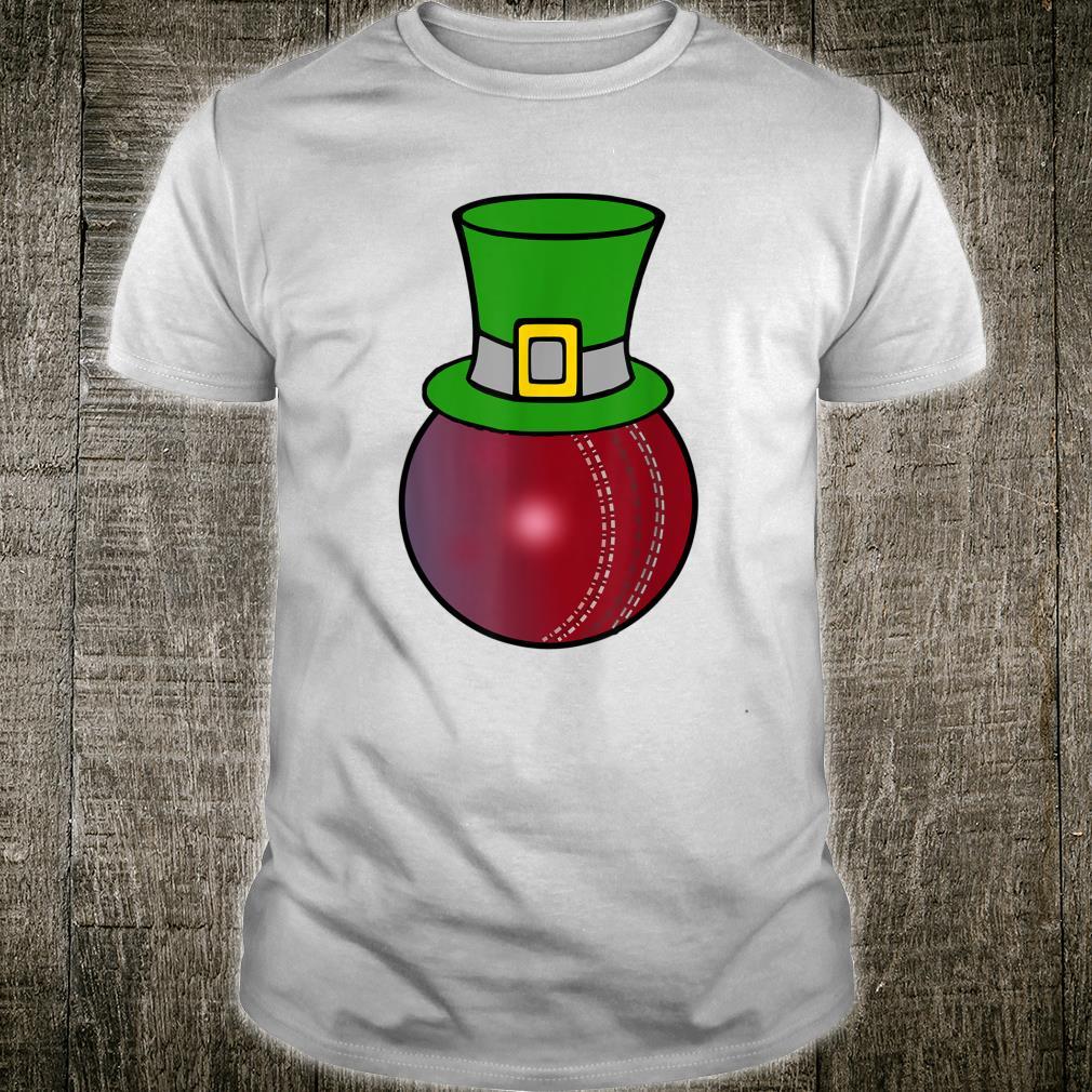 Cricket Ball Leprechaun Hat St Patricks Day Shirt