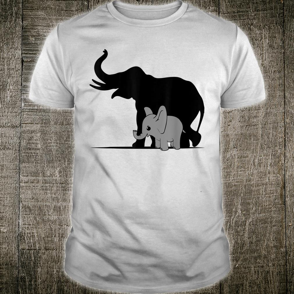 Cute Puppetry elephant Silhouette Shirt