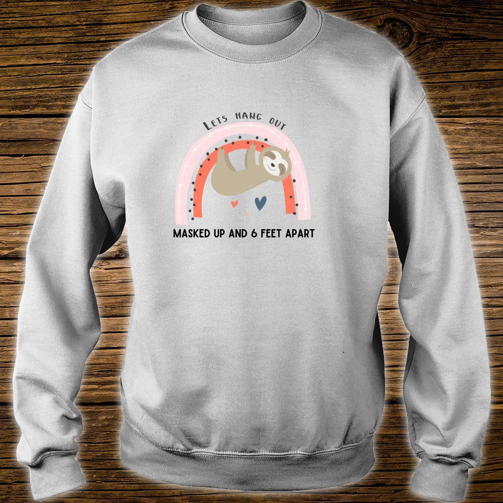 Cute Wear a Mask Social Distancing Awareness Sloth Design Shirt sweater