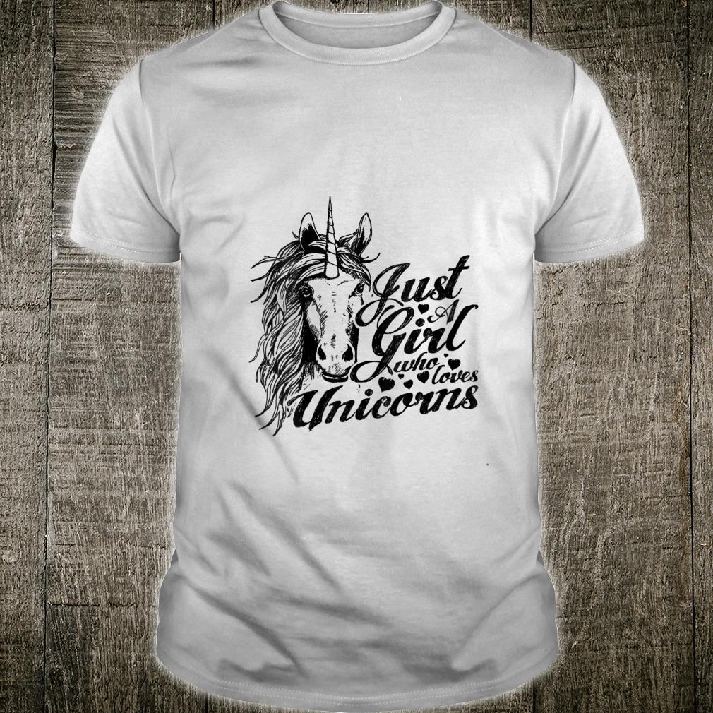 Cute mother and daughter, Just a girl who loves Unicorns Shirt