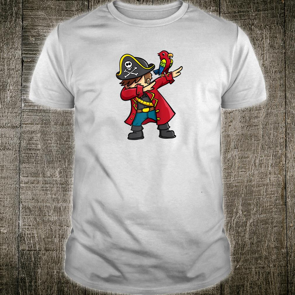 Dabbing Pirate With Parrot Dab Shirt