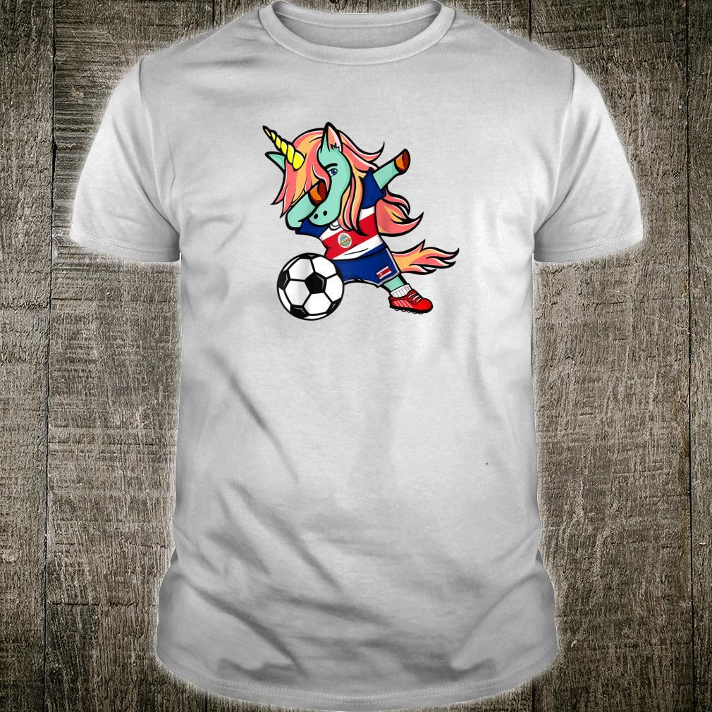 Dabbing Unicorn Costa Rica Football Costa Rican Flag Soccer Shirt