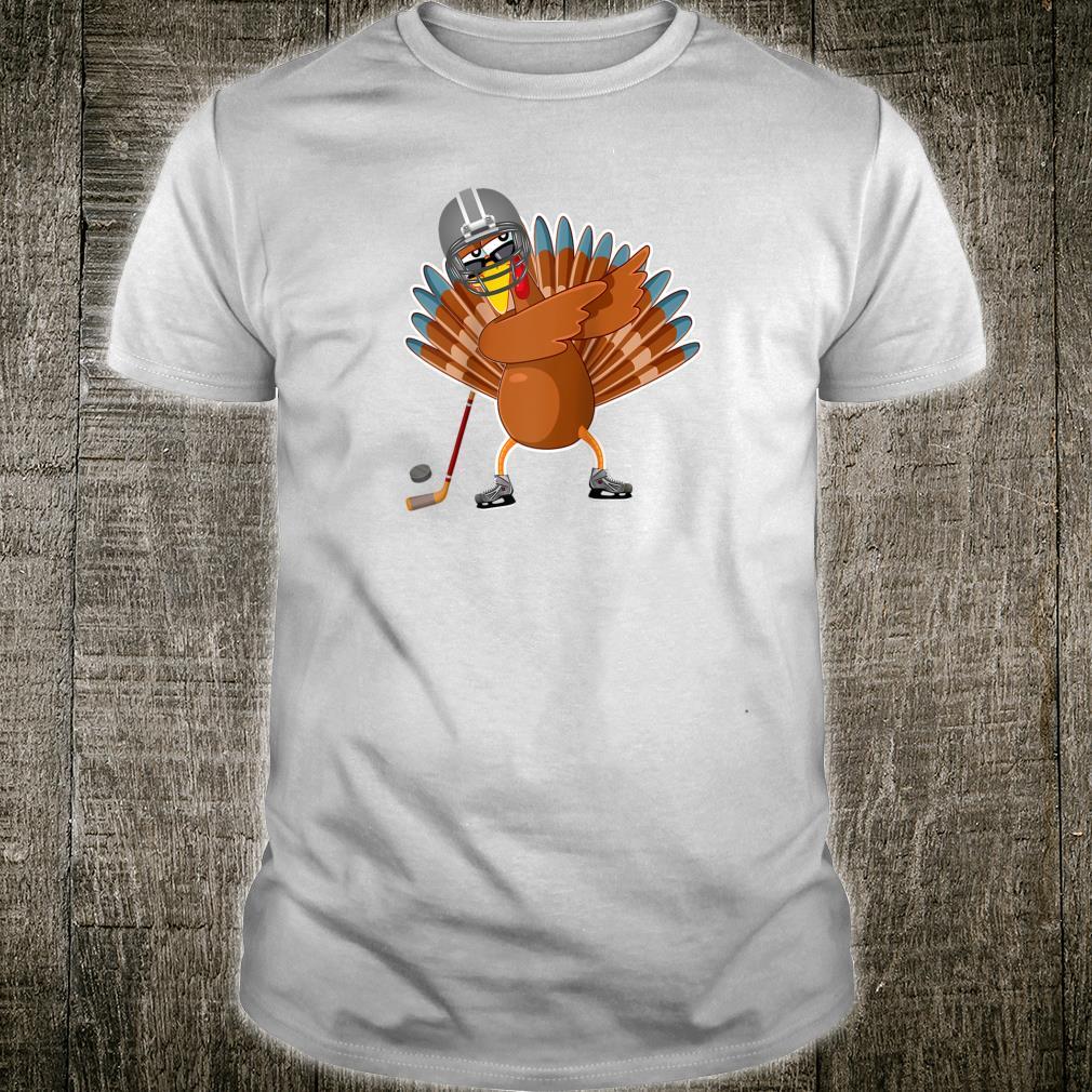 Dabbing turkey ice hockey player Thanksgiving Shirt