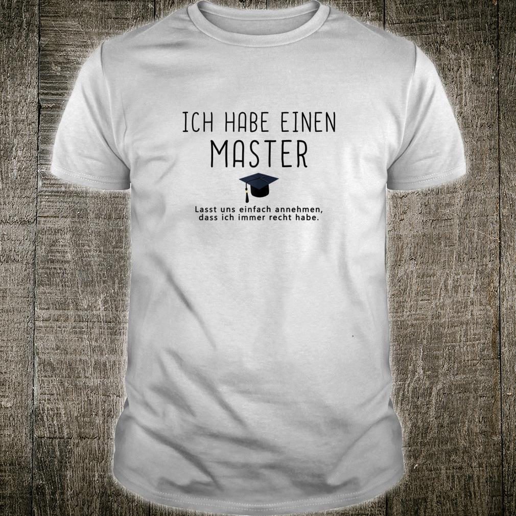 Damen Cooles Master Geschenk 2020 witziger Spruch Masterarbeit Shirt