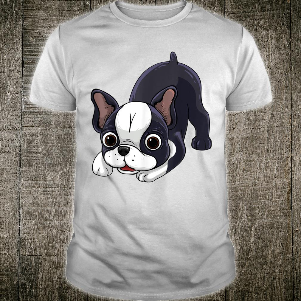 Dog Boston Terrier Puppy Black White Breed Print Shirt