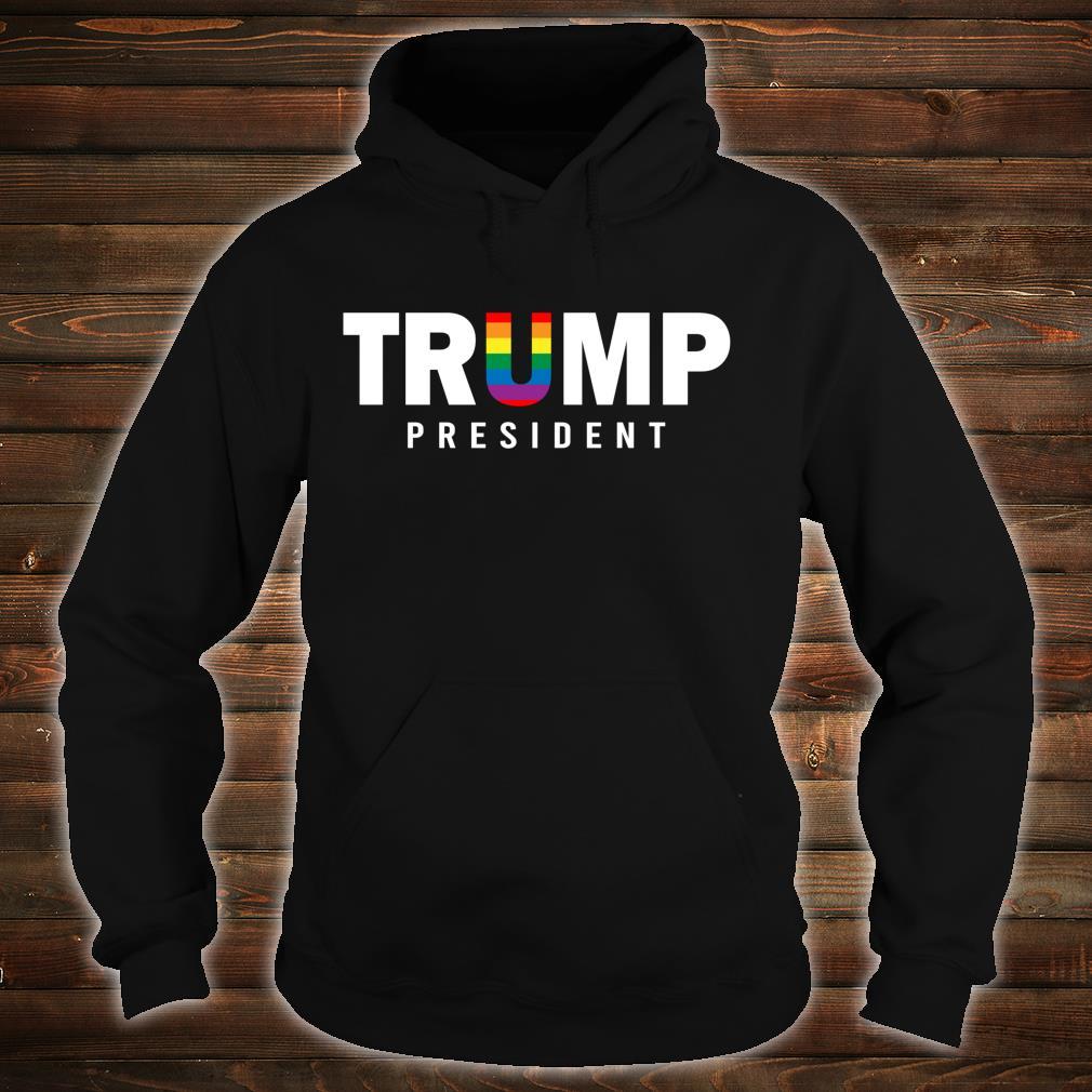 Donald Trump President 2020 LGBT Rainbow Gay Pride Shirt hoodie