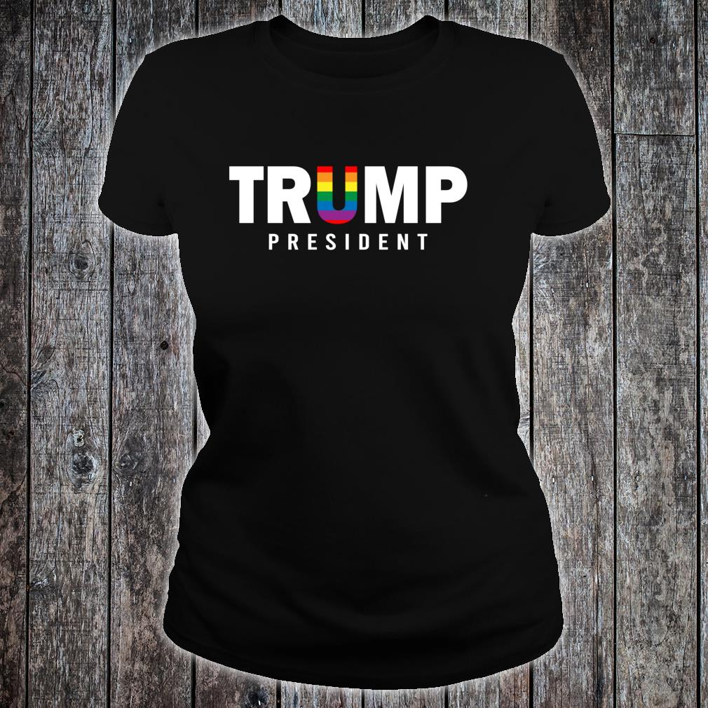 Donald Trump President 2020 LGBT Rainbow Gay Pride Shirt ladies tee