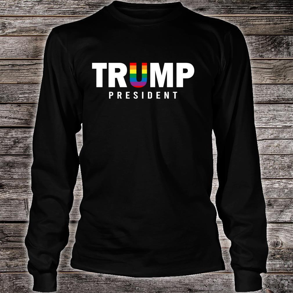 Donald Trump President 2020 LGBT Rainbow Gay Pride Shirt long sleeved